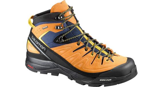 Salomon M's X Alp Mid Ltr GTX Shoes navy blazer/bright marigold/empire yellow